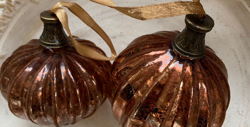 COPPER GLASS BAUBLES