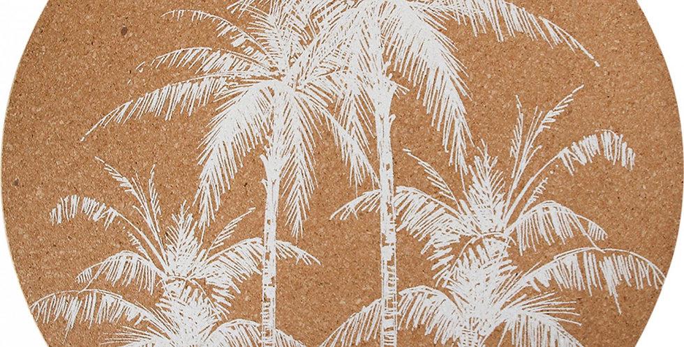 Cork Placemat S/4 Palm