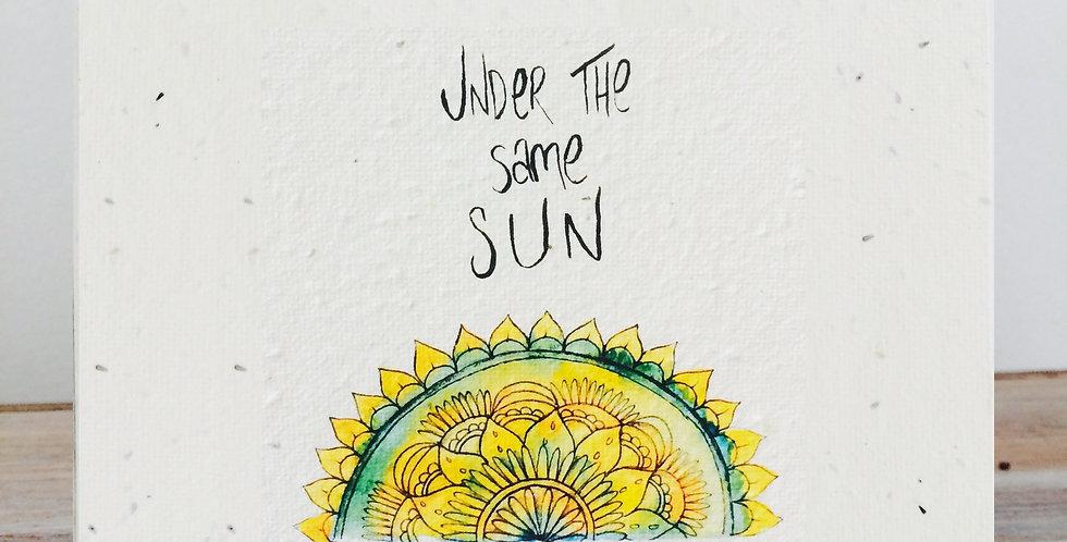 PLANTABLE GIFT CARD -- Under the same sun