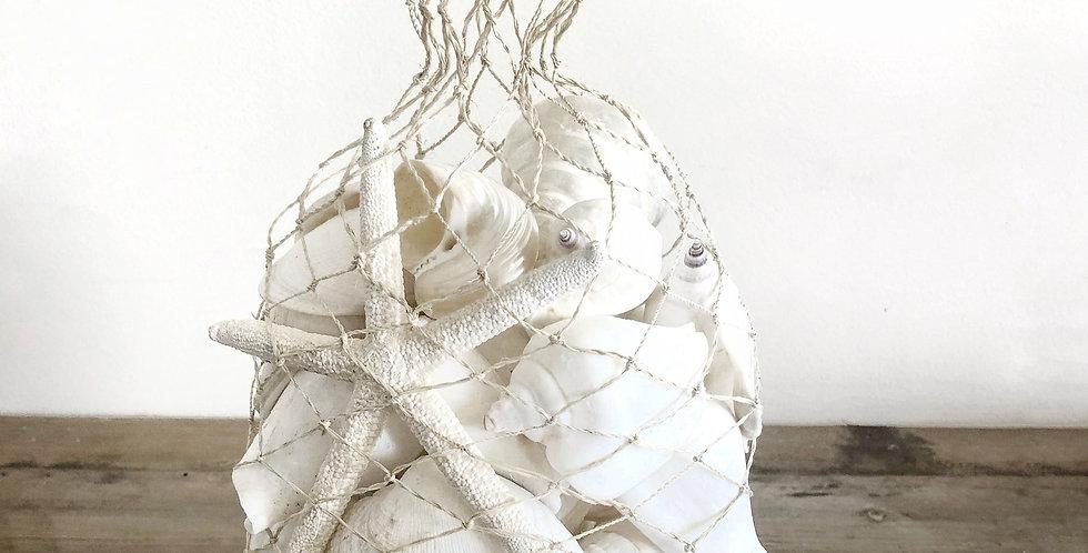 WHITE SHELL BAG