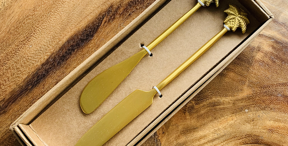 TROPIC BRASS CHEESE KNIFES
