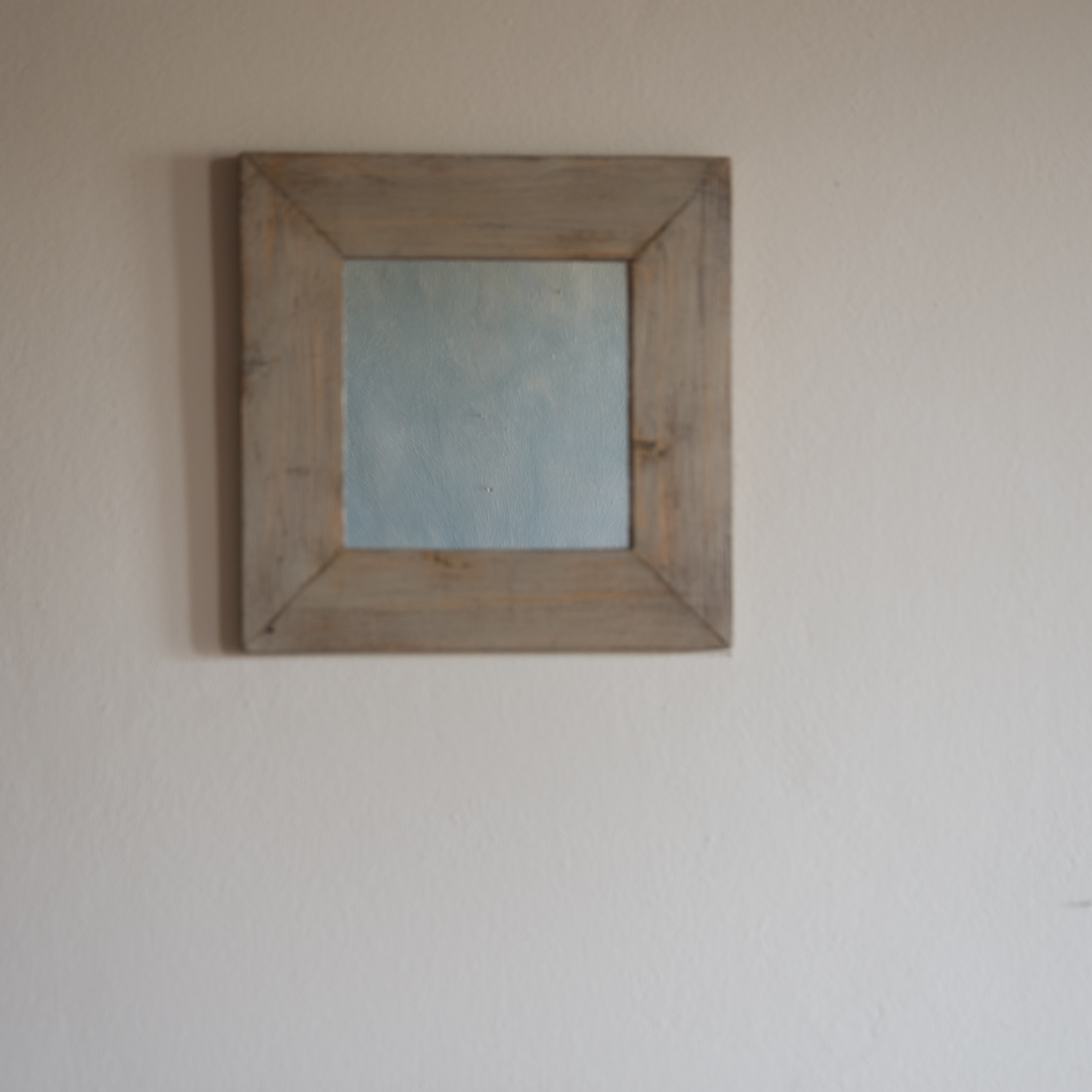 Specchio no.02 in legno di recupero ristrutturato