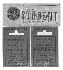 1938 Marblehead Swampscott tickets