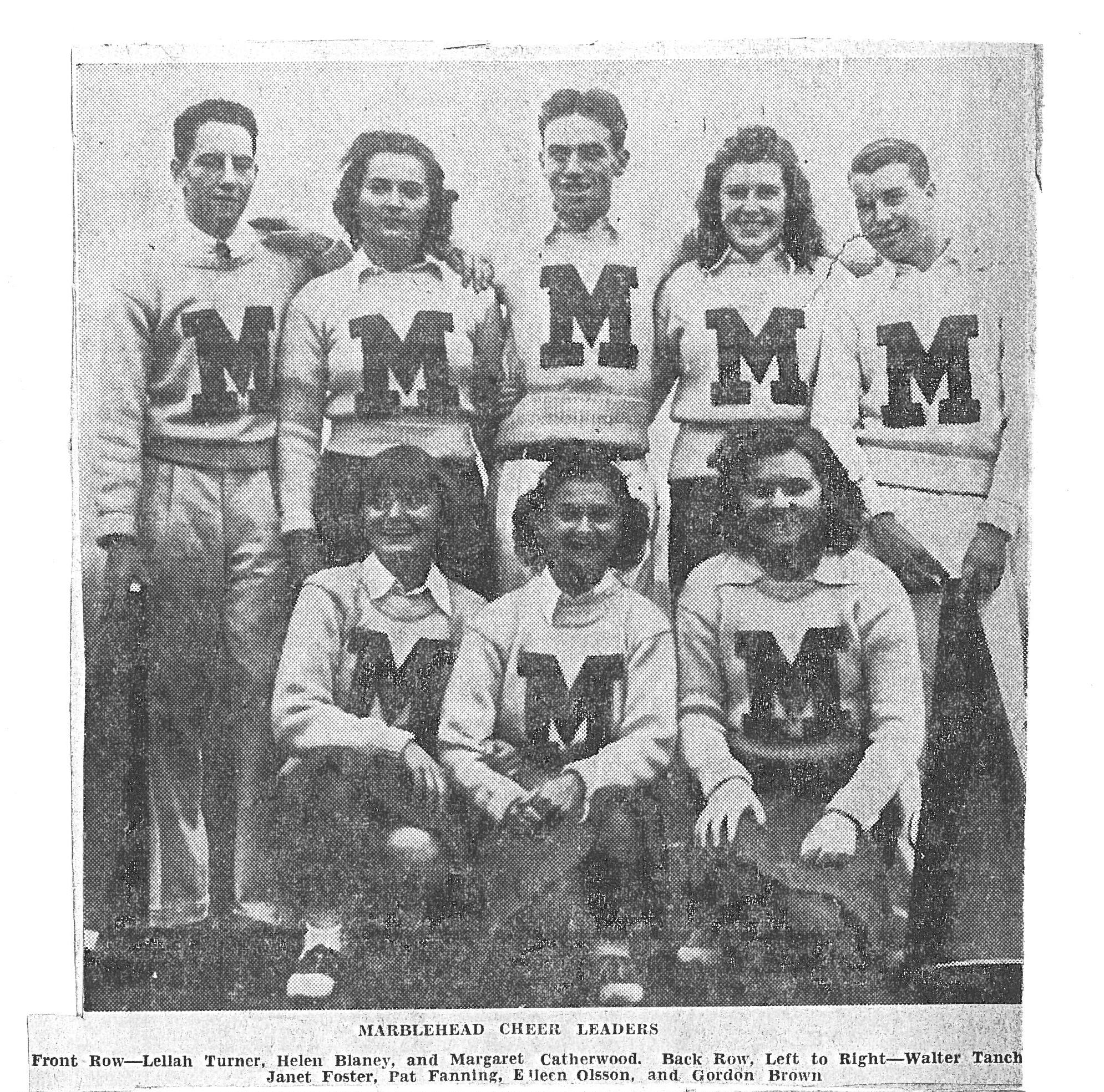 1938 Cheerleaders