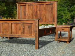 Custom Bed frame & Side Table
