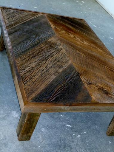 coffee table chevron