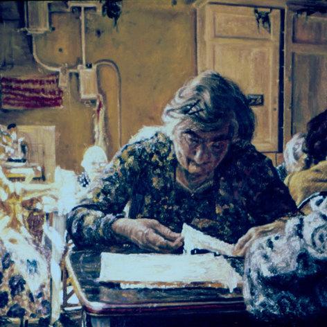 Women in a room. 1990.