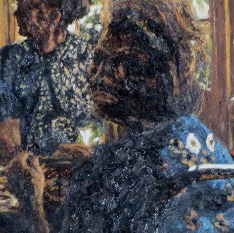 Interior with women 2. Detail.