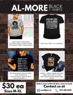 AL-MORE Black T-shirts