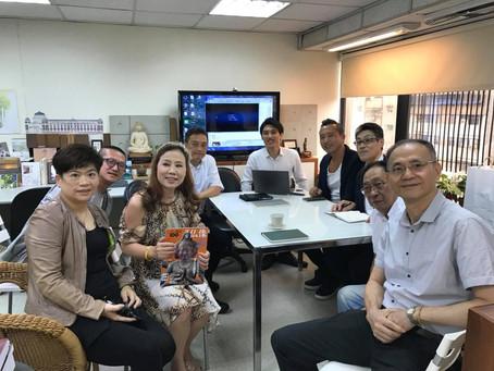 日本と台湾の建築業者の商談通訳