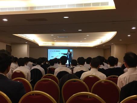 大阪某私立高校生90人に講演