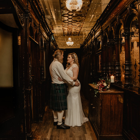 Alana & Jamie | An Intimate, Festive wedding in Sloans