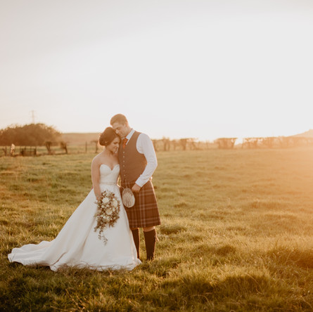 Dairy Farm Wedding with A Rustic Barn & Hot Pink Bridesmaids