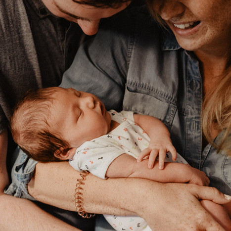 Relaxed Family Photography at Home | Baby Rhea