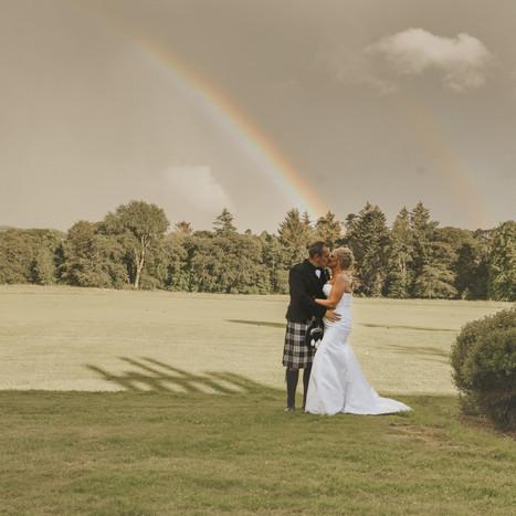 Sandra & Craig | Outdoor Garden Party Wedding Thainstone House
