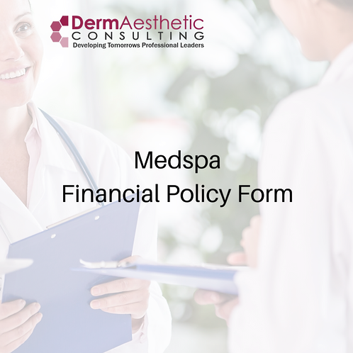 MedSpa Company Financial Policy