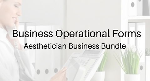 Aesthetician Business Bundle