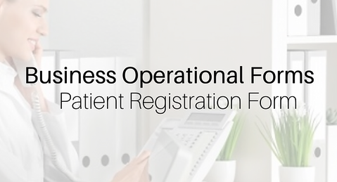 Patient Registration-Intake Form Insurance