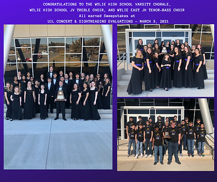 CONGRATULATIONS TO THE WYLIE EAST JH TEN