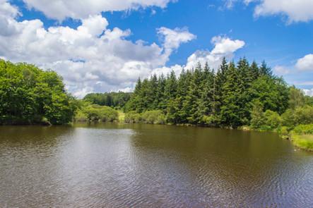 Saint Silvain sous Toulx lake