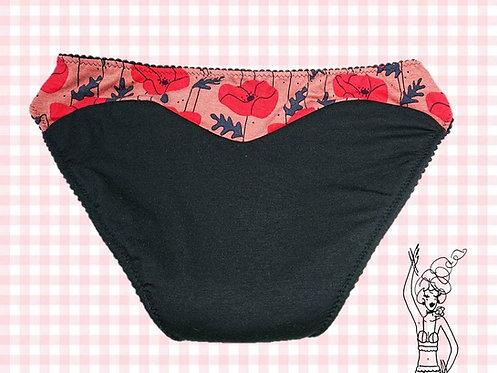Culotte menstruelle Lonie aux Coquelicots