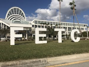 FETC Letters outside the convention center