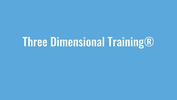 Learn more about Three Dimensional Training