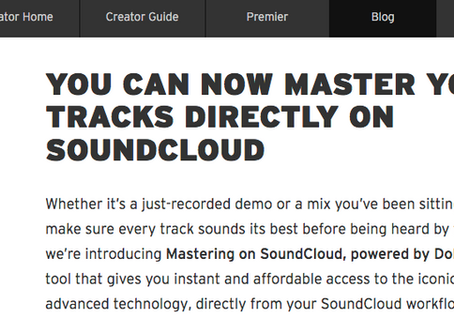 SoundCloud and Mastering