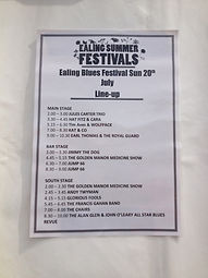 2014 Ealing Blues bar stage line up