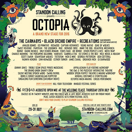 Octopia stage Standon Calling 2016