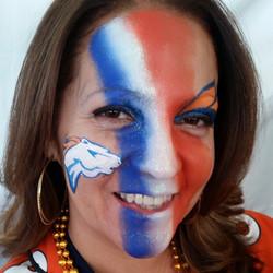 #Broncos #broncosfacepainting #facepaint