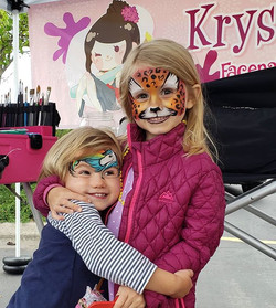 Face painting fun with Krys _ the Silver