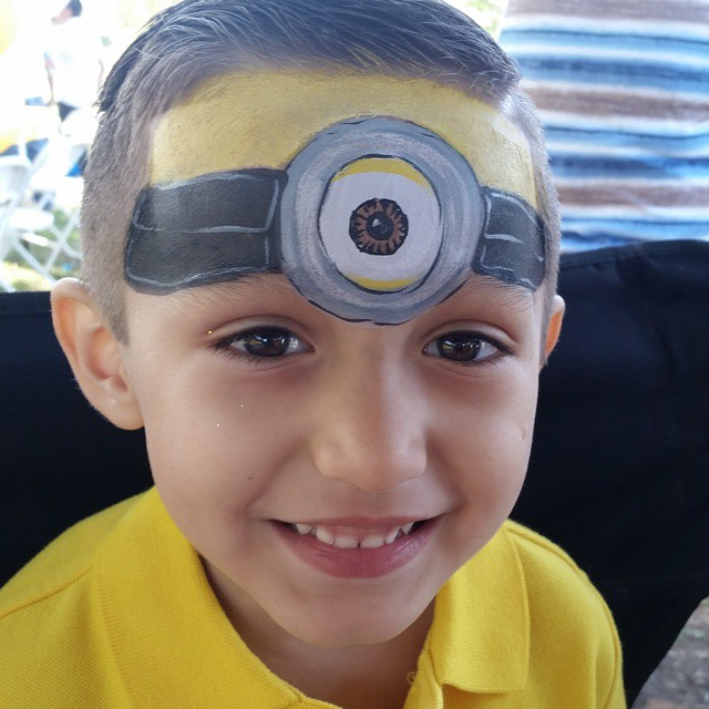 Minion Mayhem #KrysKreations #facepainti