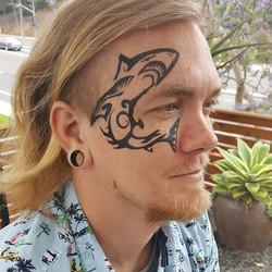 Shark attack 🦈 #kryskreations #facepain