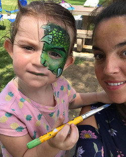 Face Painting fun with Mary & Quinn!!! K