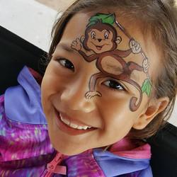 Monkey! 🐒 #kryskreationsfacepaintingand