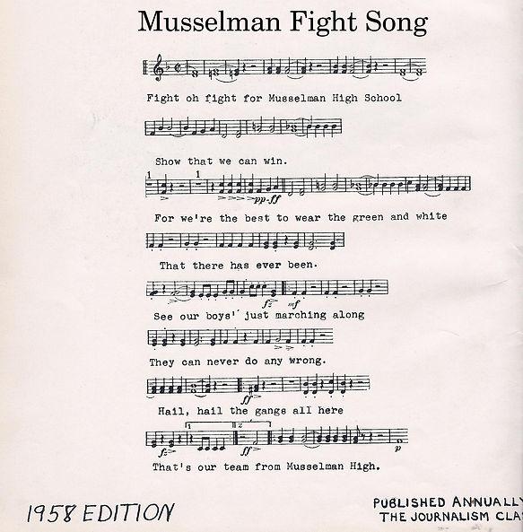 Musselman High Fight Song 1958.jpg