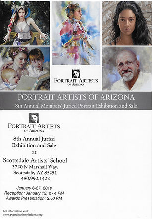 Portrait Artists of Arizona 2018