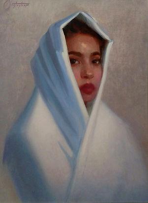 portrait painting in oil paint