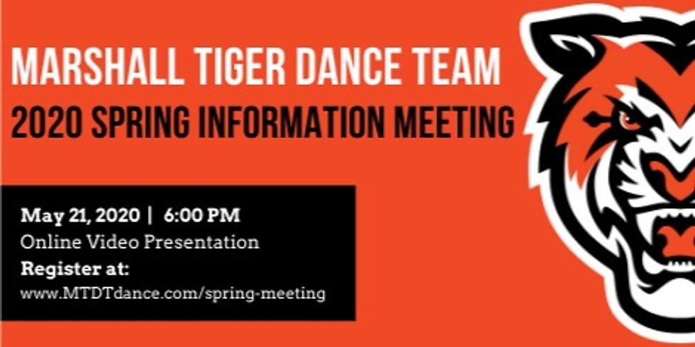 MTDT 2020 Virtual Spring Informational Meeting