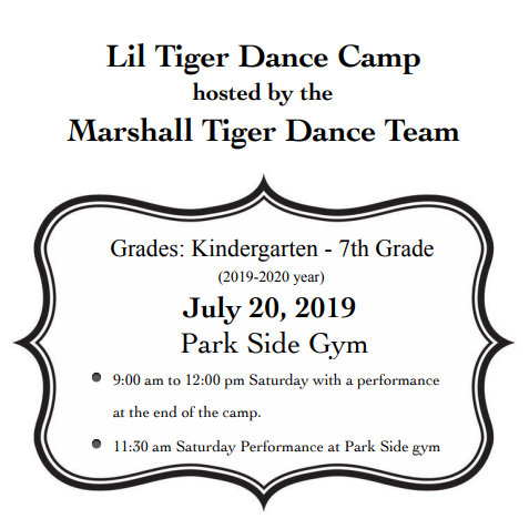 2019 Lil Tiger Dance Camp