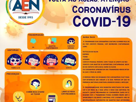 Os cuidados com o retorno as aulas e o COVID-19, Coronavírus.