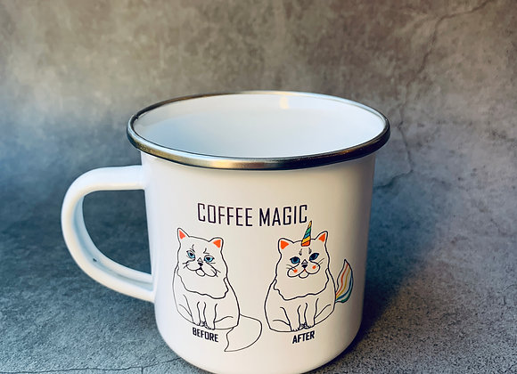 Coffee magic fém bögre
