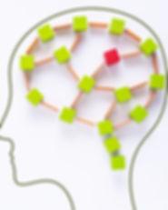 Brain damage concept. Brain disorder sym