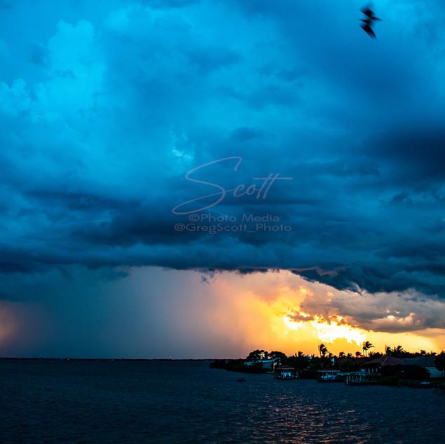 Weather - over Banana River downburst 7-