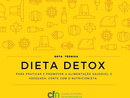 Dieta Detox: Nota técnica do CFN
