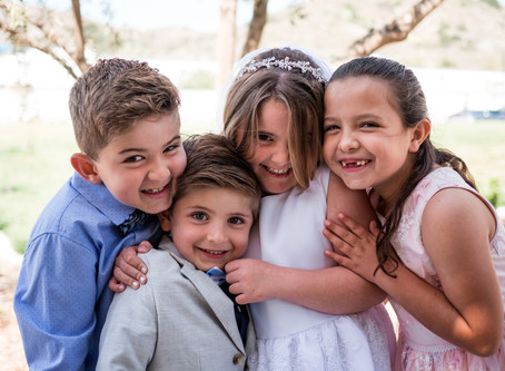 Ladera Ranch Family Photo | Bella's First Communion | Holy Trinity Catholic Church