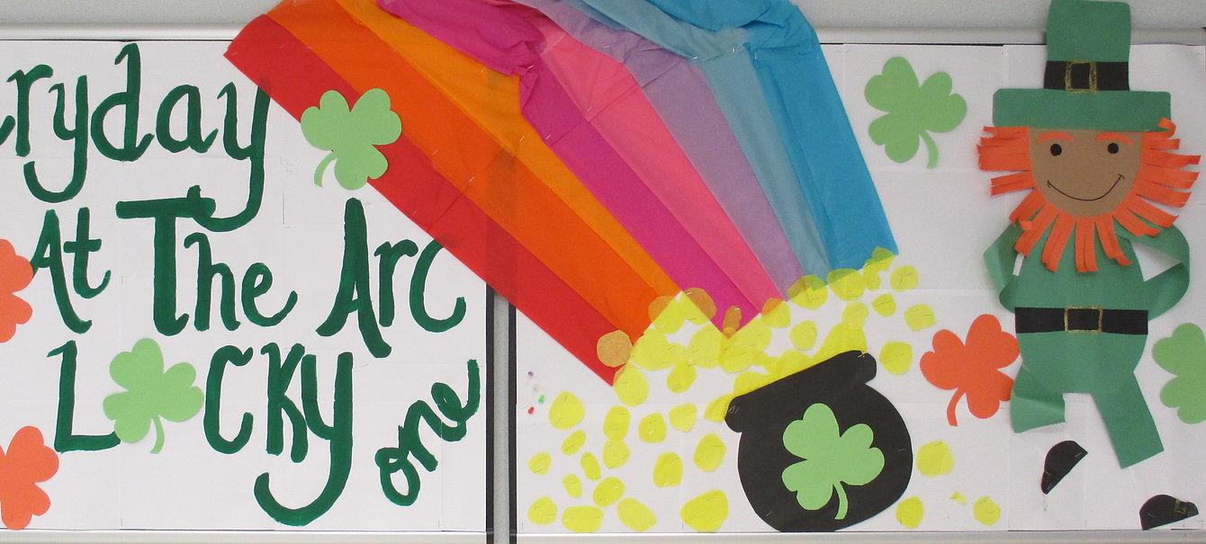 Lucky day at ARC bulletin board March 2017.jpg