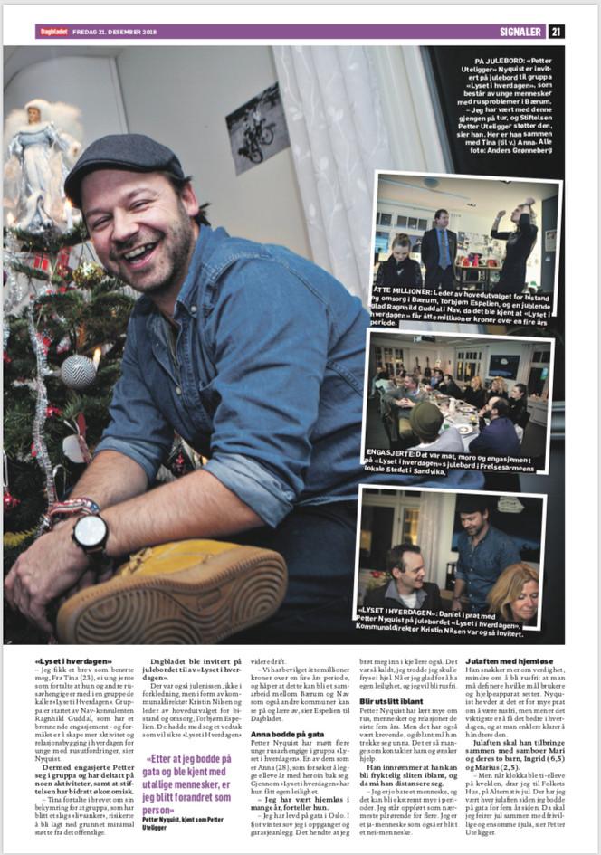Dagbladet 21. Desember 2018 del 2