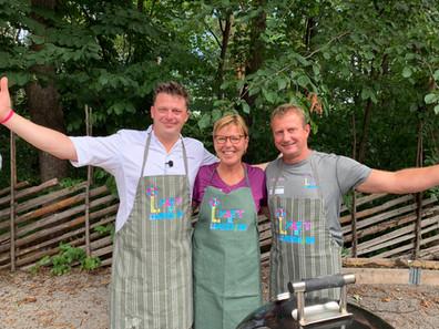 Kokken Tor, Kokken Wenche og Leder for bistand og omsorg Torbjørn Espelien.